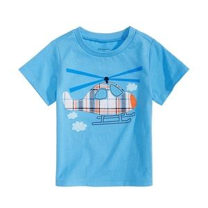 NWT First Impressions Blue Helicopter Shirt 12mo